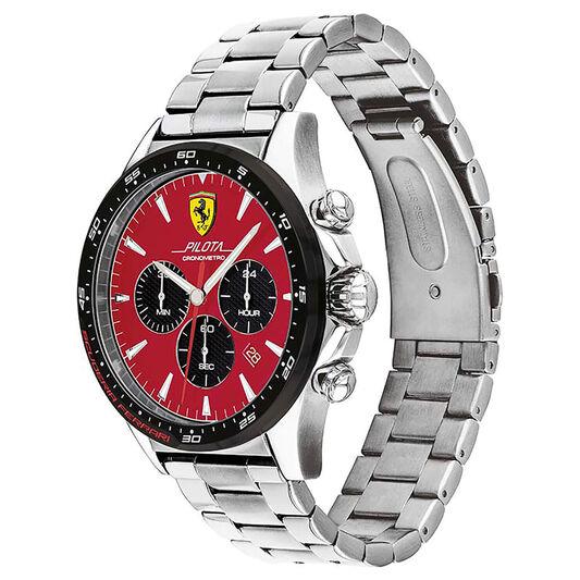 Scuderia Ferrari Men's Pilota Stainless Steel Watch