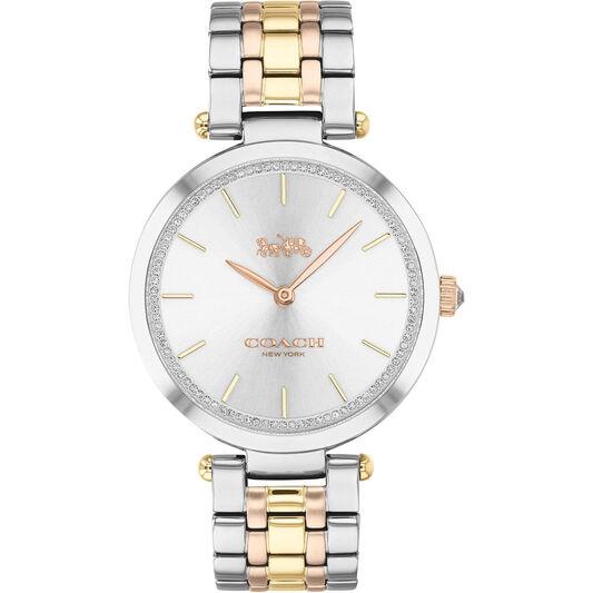 Coach Ladies Park Triple-Tone Stainless Steel Watch