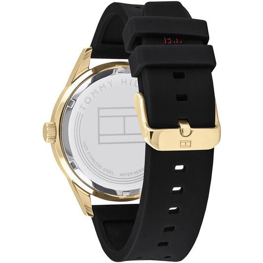 Tommy Hilfiger Men's Black Silicone Watch