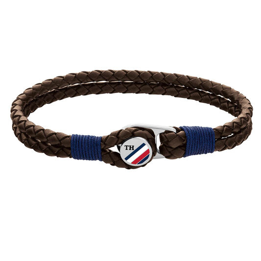 Tommy Hilfiger Men's Button Leather Bracelet