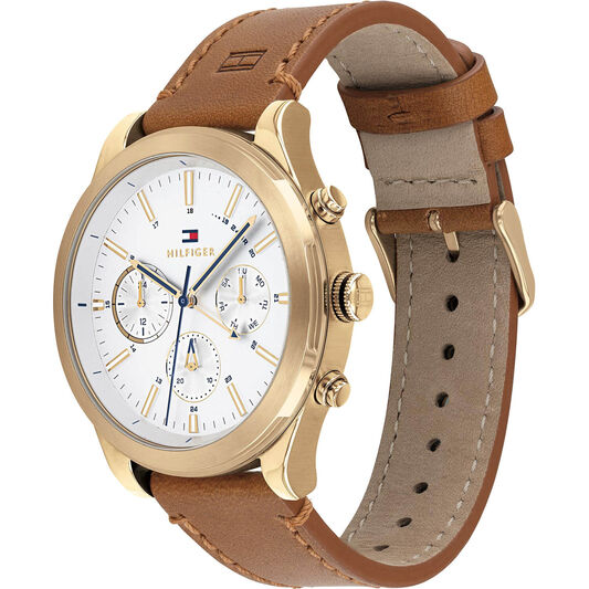 Tommy Hilfiger Men's Light Brown Leather Watch