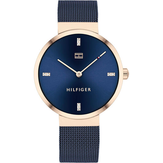 Tommy Hilfiger Ladies Blue Plated Watch