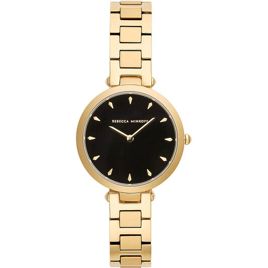 Rebecca Minkoff Ladies Nina Gold Plated Watch