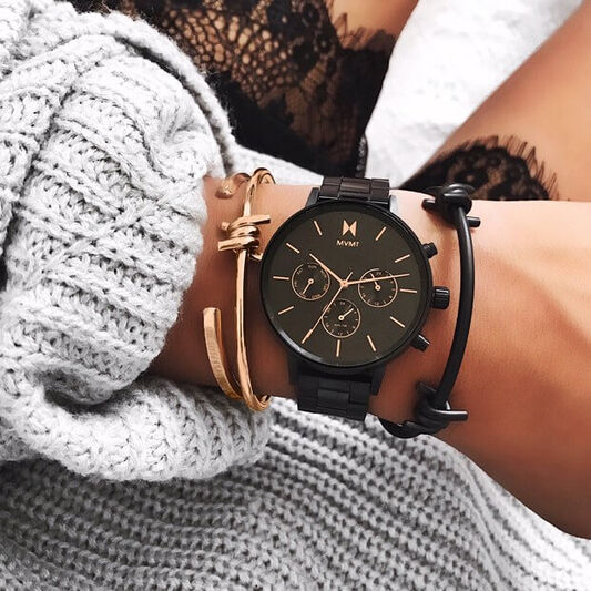 MVMT Ladies Nova Black Plated Watch