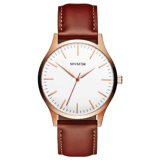 MVMT Men's 40 Series Natural Leather Watch