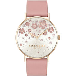 Coach Ladies Perry Blush Calfskin Watch