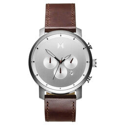 MVMT Men's Chrono Brown Leather Watch