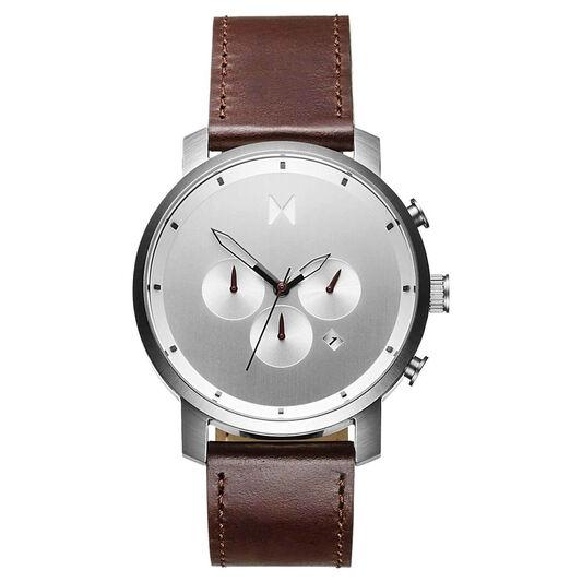 MVMT Men's Chrono Brown Leather Watch