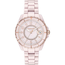Coach Ladies Preston Pink Ceramic Watch