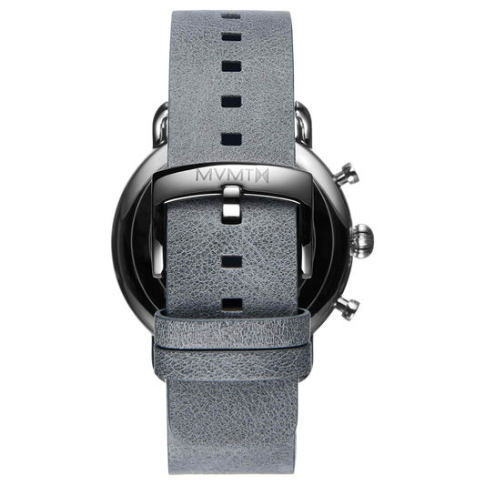 MVMT Men's Blacktop Grey Leather Watch