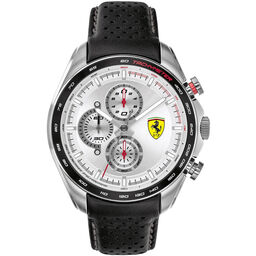 Scuderia Ferrari Men's Speedracer Black Leather Watch
