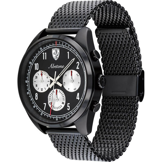 Scuderia Ferrari Men's Abetone Black Plated Watch