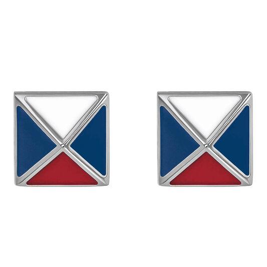 Tommy Hilfiger Ladies Pyramid Stud Earrings