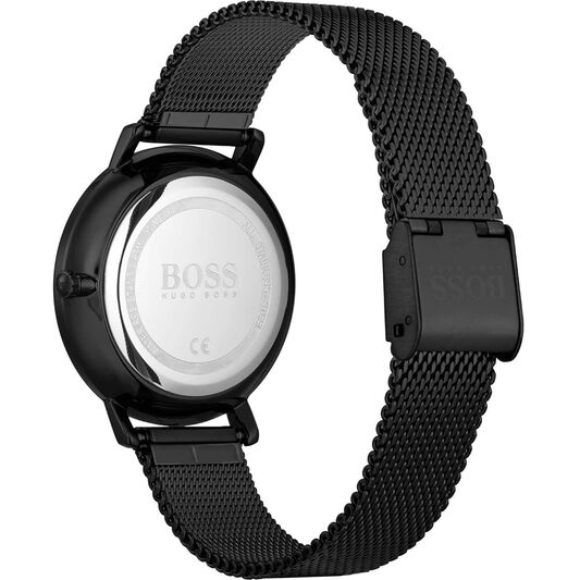 BOSS Ladies Infinity Black Plated Watch