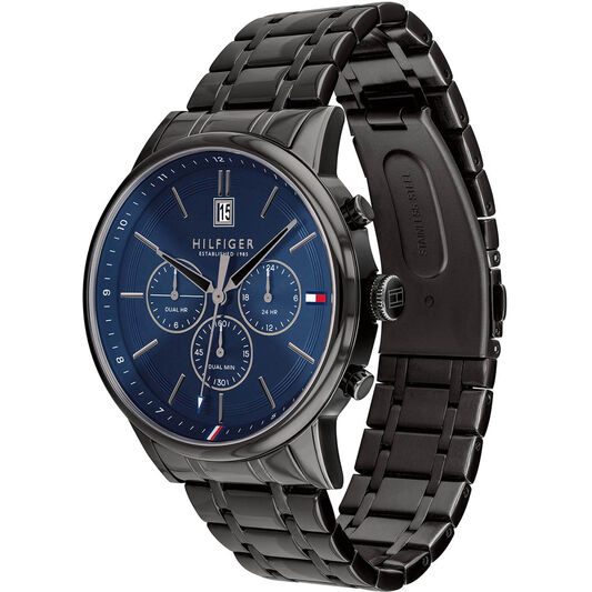 Tommy Hilfiger Men's Black Plated Watch