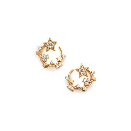Celestial Gold Swirl Hoops