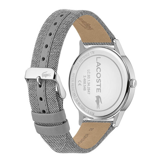 Lacoste Men's Madrid Light Grey Textile Strap Watch