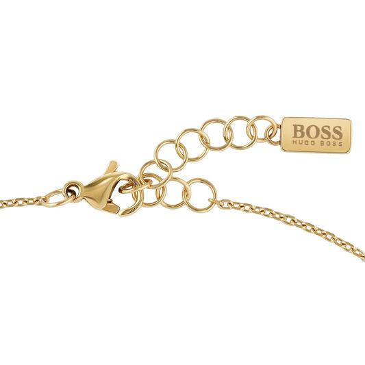 BOSS Ladies Signature Gold Plated Bracelet