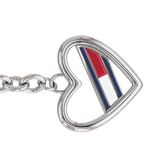 Tommy Hilfiger Ladies Silver Heart Toggle Bracelet