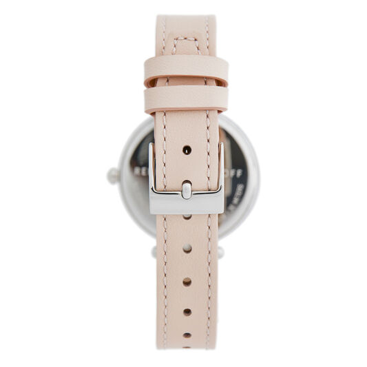 Rebecca Minkoff Ladies Nina Blush Leather Watch