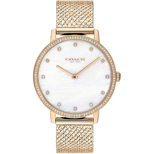 Coach Ladies Audrey Carnation Gold Plated Watch