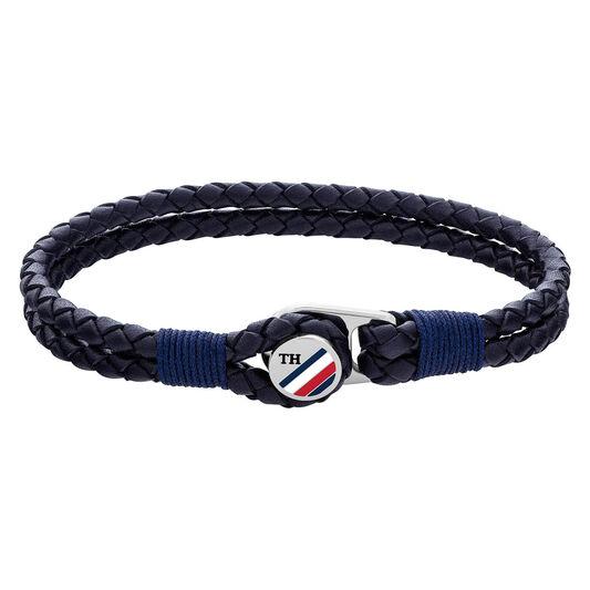Tommy Hilfiger Men's Button Leather Bracelet