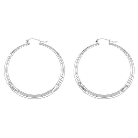 Tommy Hilfiger Ladies Stainless Steel Hoop Earrings