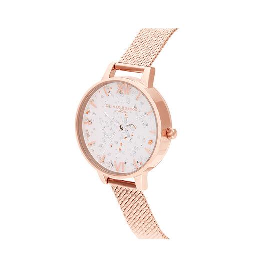 Celestial Rose Gold Mesh Watch