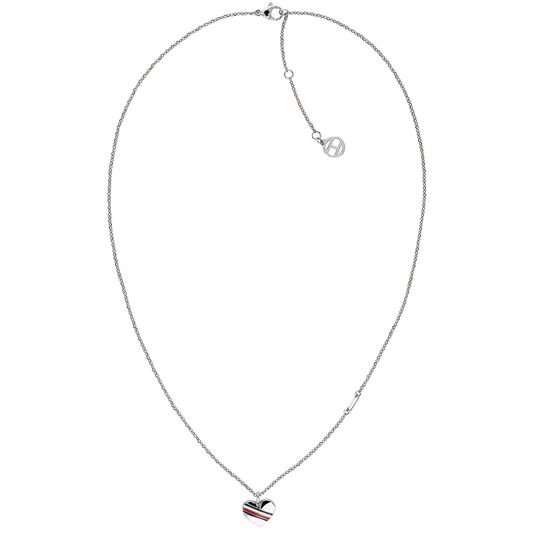 Tommy Hilfiger Ladies Silver Heart Charm Necklace