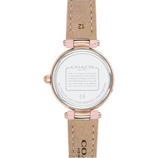 Coach Ladies Park Blush Calfskin Watch