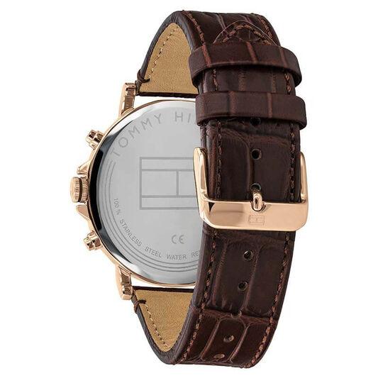 Tommy Hilfiger Men's Dark Brown Leather Watch