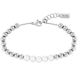 BOSS Ladies Beads Collection Stainless Steel & Metal Bracelet