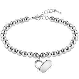 BOSS Ladies Beads Collection Stainless Steel Charm Bracelet