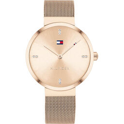 Tommy Hilfiger Ladies Carnation Gold Plated Watch