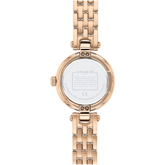 Coach Ladies Chrystie Carnation Gold Plated Watch