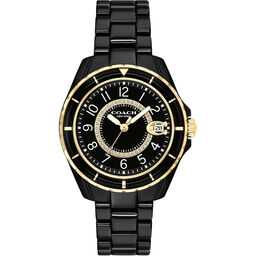 Coach Ladies Preston Black Ceramic Watch