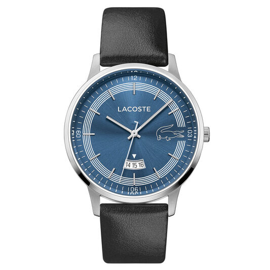 Lacoste Men's Madrid Black Leather Watch