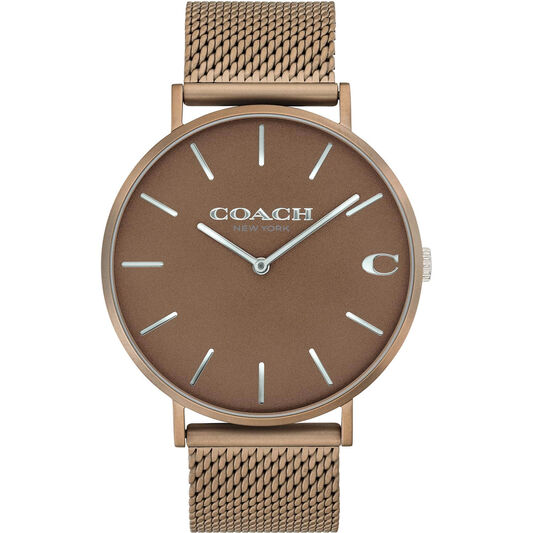 Coach Men's Charles Rose Gold Tone Watch