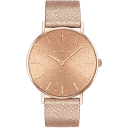 Coach Ladies Perry Metallic Blush Calfskin Watch