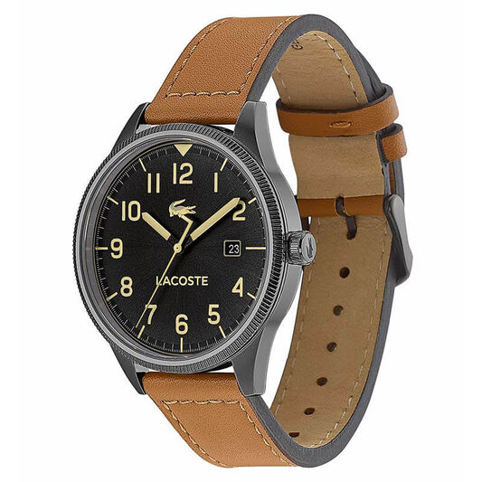Lacoste Men's Continental Brown Leather Watch
