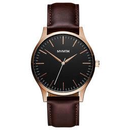 MVMT Men's 40 Series Brown Leather Watch