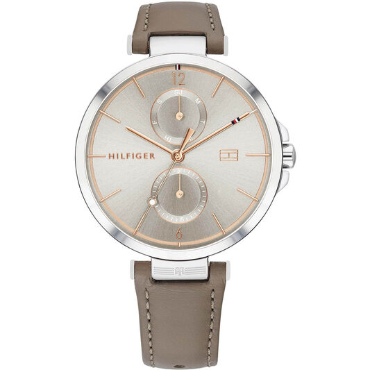 Tommy Hilfiger Ladies Taupe Leather Watch
