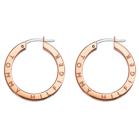 Tommy Hilfiger Ladies Rose Gold Crystal Earrings