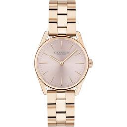 Coach Ladies Modern Luxury Carnation Gold Plated Watch