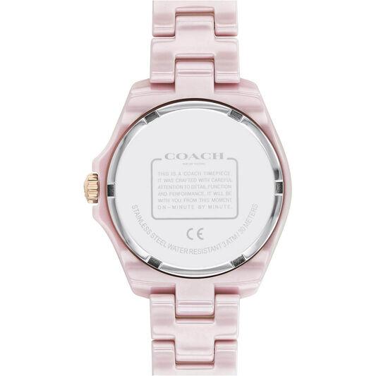 Coach Ladies Preston Pink Ceramic Watch
