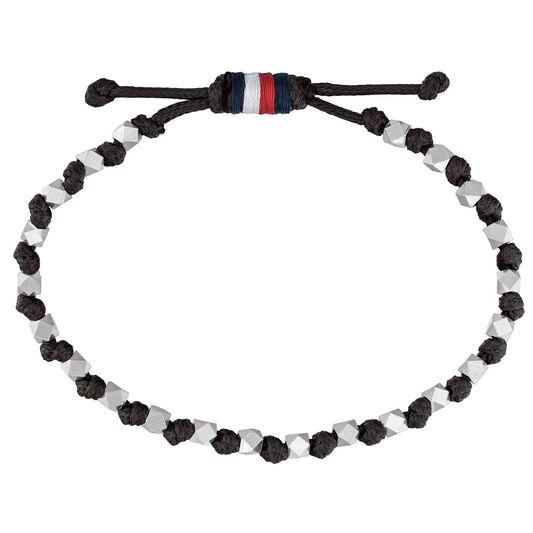 Tommy Hilfiger Men's Bead & Leather Bracelet