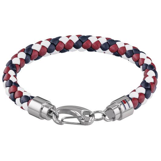 Tommy Hilfiger Men's Woven Leather Bracelet