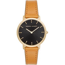 Rebecca Minkoff Ladies Major Brown Leather Watch