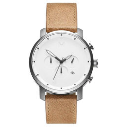 MVMT Men's Chrono Caramel Leather Watch
