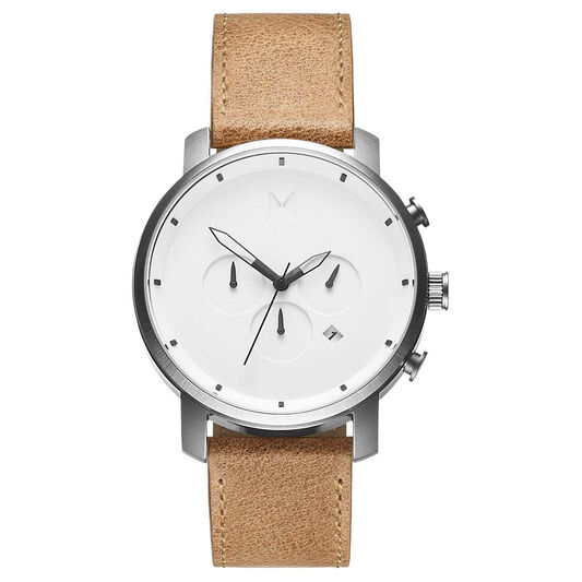 MVMT Men's Chrono Caramel Leather Watch